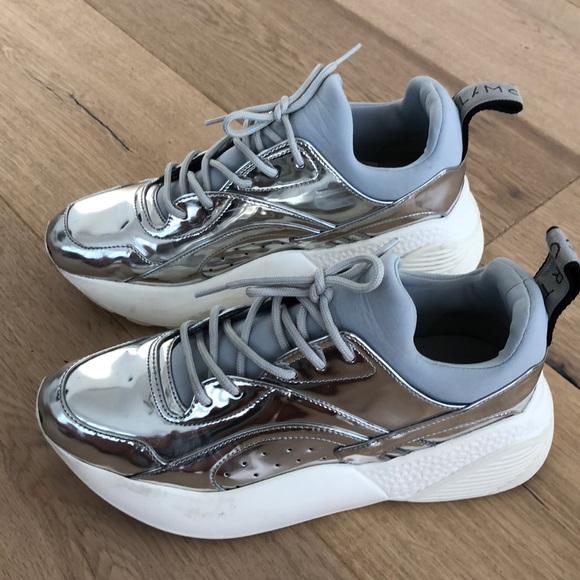 Stella Mccartney Silver Sneakers
